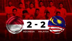 Indosport - Hasil pertandingan Indonesia vs Malaysia