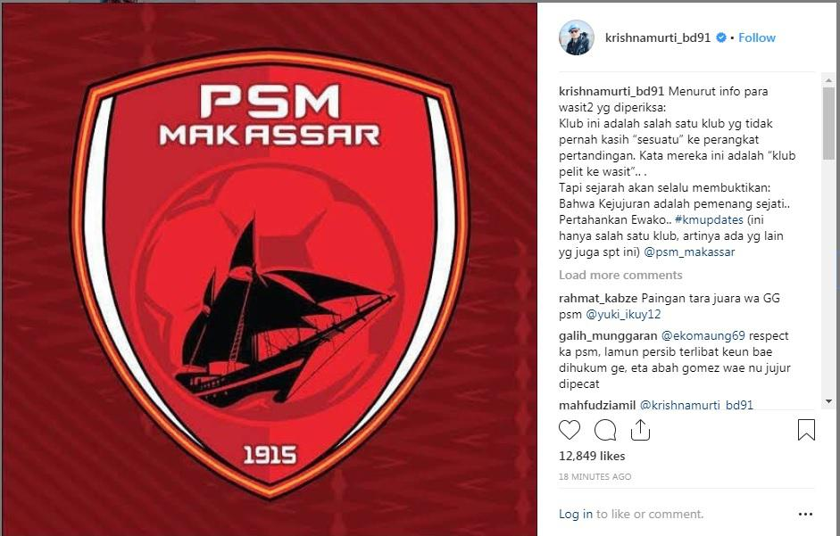 Krishna Murti puji PSM Makassar. Copyright: instagram.com/krishnamurti_bd91