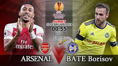Indosport - Pertandingan Arsenal vs BATE Borisov.