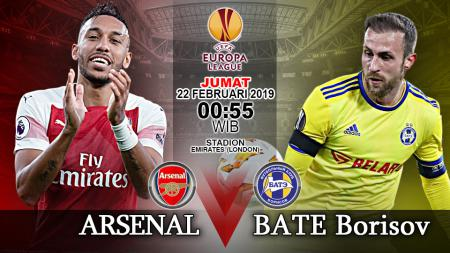 Pertandingan Arsenal vs BATE Borisov. - INDOSPORT