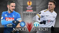 Indosport - Pertandingan Napoli vs FC Zurich.