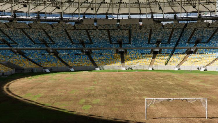 Stadion Maracana di Brasil yang sempat terbengkalai usai Olimpiade Rio 2016. Copyright: CNN