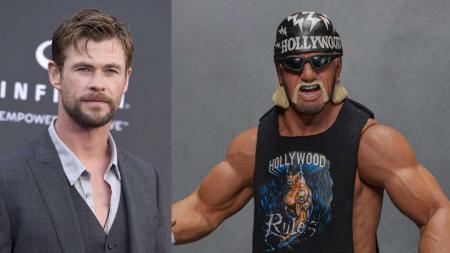 Chris Hemsworth yang pernah populer di film super hero Amerika, Thor, tengah mengubah tubuhnya lebih kuat demi bisa menjadi legenda WWE, Hulk Hogan. - INDOSPORT