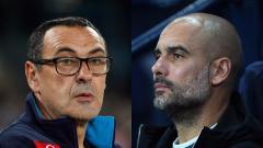 Indosport - Maurizio Sarri dan Pep Guardiola