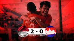 Indosport - Hasil pertandingan Indonesia vs Kamboja