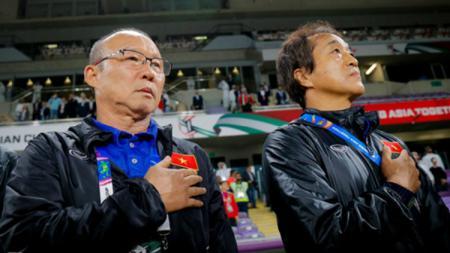 Pelatih Timnas Vietnam U-22, Park Hang-seo di Piala AFF U-22 2019. - INDOSPORT