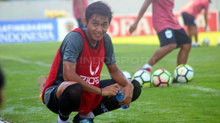 Septian David Maulana saat menjalani latihan bersama PSIS Semarang menjelang laga Liga 1 2019. - INDOSPORT