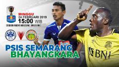 Indosport - Pertandingan PSIS Semarang vs Bhayangkara FC.
