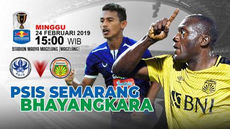 Pertandingan PSIS Semarang vs Bhayangkara FC. - INDOSPORT