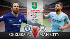 Indosport - Pertandingan Chelsea FC vs Man city