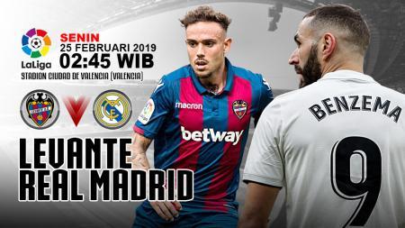 Pertandingan Levante vs Real Madrid. - INDOSPORT