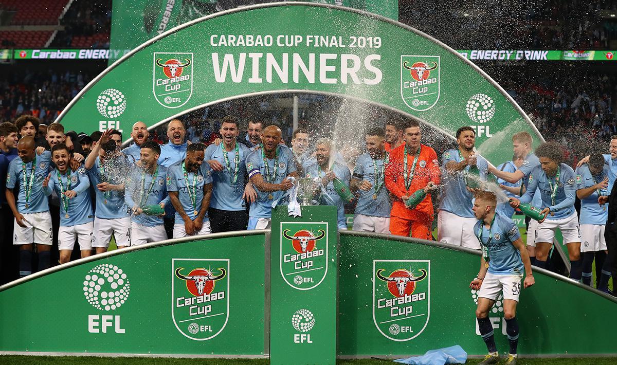 GALERI FOTO Pesta Manchester City Juara Carabao Cup 2018 19