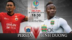 Indosport - Pertandingan Persija vs Binh Duong