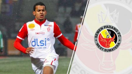 Florent Zitte dan logo Semen Padang - INDOSPORT