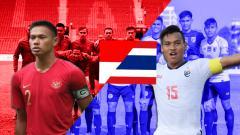 Indosport - Duel Kapten Timnas Indonesia U-22 vs Thailand di Piala AFF U-22 2019