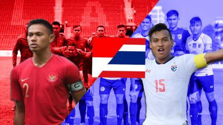 Duel Kapten Timnas Indonesia U-22 vs Thailand di Piala AFF U-22 2019 - INDOSPORT