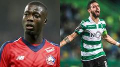 Indosport - Man United Incar Nicolas Pepe (Lille) dan Bruno Fernandes (Sporting Lisbon)
