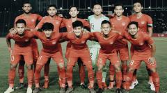 Indosport - Skuat Timnas Indonesia U-22 di laga final Piala AFF melawan Thailand