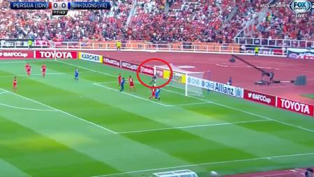 Situasi pertandingan Persija Jakarta melawan Binh Duong - INDOSPORT
