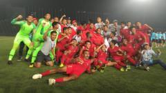 Indosport - Timnas Indonesia U-22 merayakan kemenangan sebagai juara Piala AFF U-22.