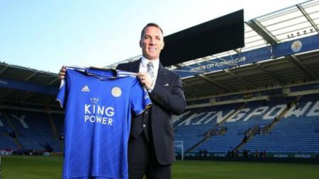 Brendan Rodgers ingin membawa Leicester City ke panggung Liga Champions seperti era Claudio Ranieri. - INDOSPORT