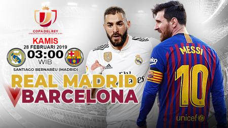 Pertandingan Real Madrid vs Barcelona. - INDOSPORT