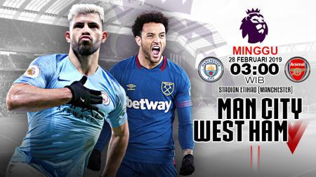 Pertandingan Manchester City vs West Ham. - INDOSPORT
