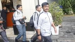 Indosport - Pelatih Timnas Indonesia U-22, Indra Sjafri siap akan melakukan arak-arakan menuju Istana Negara dari hotel sultan, Kamis (28/02/19).