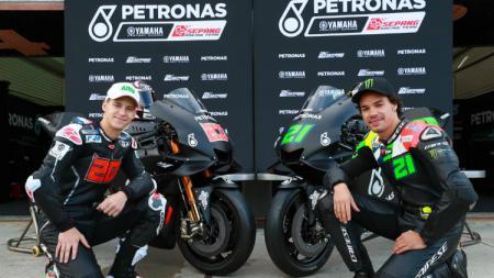 Salah satu tim baru di MotoGP 2019, Yamaha Petronas SRT. - INDOSPORT