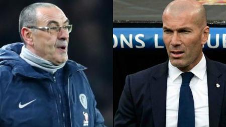 Raksasa Serie A Liga Italia, Juventus, dikabarkan melirik pelatih Real Madrid, Zinedine Zidane, untuk mereka boyong ke Turin demi menggantikan Maurizio Sarri. - INDOSPORT