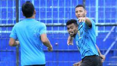 Indosport - Selebrasi pemain Barito Putera.