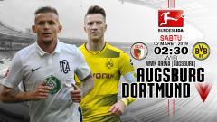 Indosport - Prediksi pertandingan Augsburg vs Borussia Dortmund