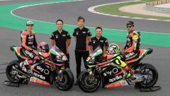 Indosport - Aprilia Gresini Racing saat rilis tim untuk MotoGP 2019.