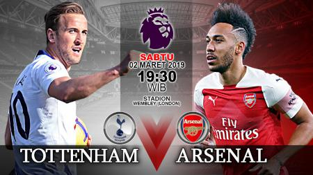 Pertandingan Tottenham vs Arsenal. - INDOSPORT