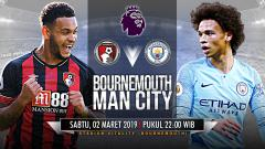 Indosport - Pertandingan Bournemouth vs Manchester City.