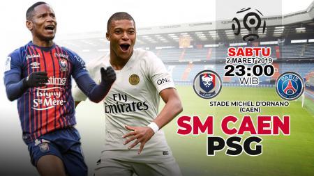 Pertandingan SM Caen vs Paris Saint-Germain. - INDOSPORT
