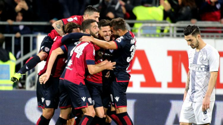 Cagliari vs Inter Milan. Copyright: INDOSPORT