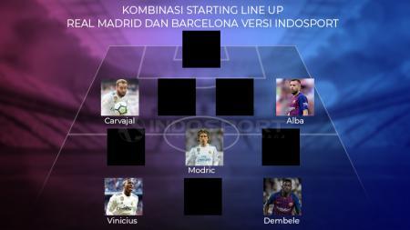 Kombinasi Starting Line Up Real Madrid dan Barcelona versi INDOSPORT - INDOSPORT
