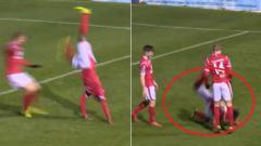 Indosport - Selebrasi Goal Gagal dan berakhir tragis