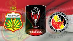 Indosport - Ilustrasi Pertandingan Bhayangkara FC vs Semen Padang di Piala Presiden 2019