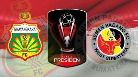Ilustrasi Pertandingan Bhayangkara FC vs Semen Padang di Piala Presiden 2019 - INDOSPORT