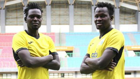 Dua Pemain Asing Mitra Kukar, Patrick Ochan dan Musa C Njie untuk Piala Presiden 2019. - INDOSPORT