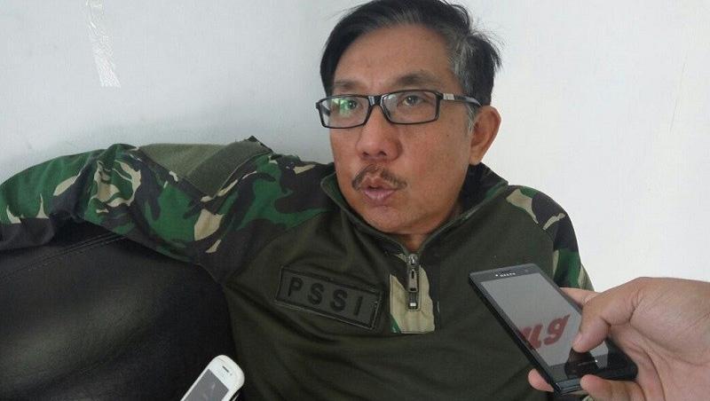 Ketua Asosiasi Provinsi (Asprov) Persatuan Sepakbola Seluruh Indonesia (PSSI) Lampung, Eddy Samsu. Copyright: lampungpro.com