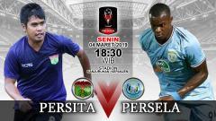 Indosport - Pertandingan Persita Tangerang vs Persela Lamongan.
