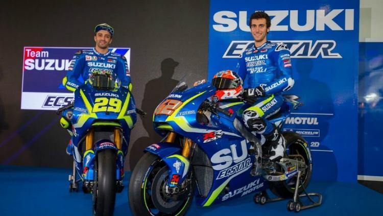 Team Suzuki Ecstar yang akan tampil di MotoGP 2019 Copyright: breakingnews.co.id