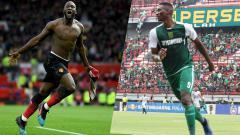 Indosport - Romelu Lukaku dan Amido Balde