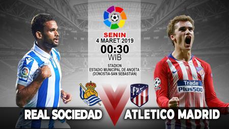 Pertandingan Real Sociedad vs Atletico Madrid - INDOSPORT