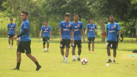 Latihan Borneo FC di Lapangan Paskhas, pagi tadi. - INDOSPORT