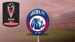 Indosport - Logo Arema FC Piala Presiden