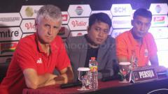 Indosport - Persija Jakarta dalam jumpa pers Piala Presiden jelang melawan Borneo FC.